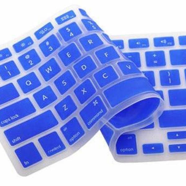 Protetor de teclado macbook air pro 13 15 17 azul