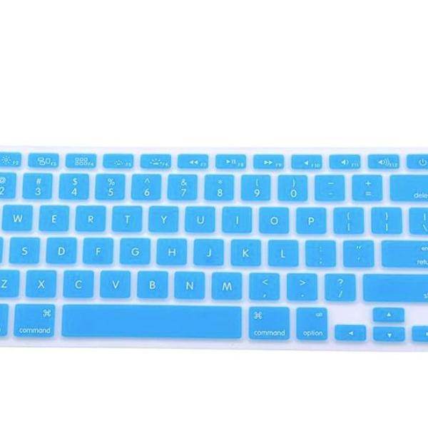 Protetor teclado macbook air pro 13 15 17 capa azul claro