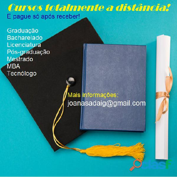 Adquira seu diploma de graduação e pós pague só após receber