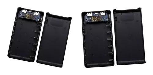 2 pcs 6x18650 5v bateria poder banco concha caso dual usb lc