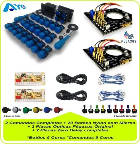 20 botões + 2 controles + 2 placas ópticas + 2 placas zero
