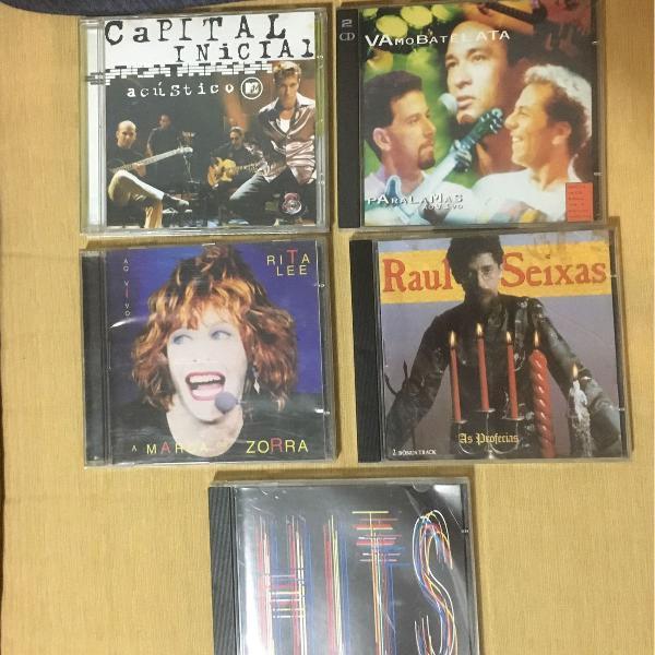 5 cds rock nacional