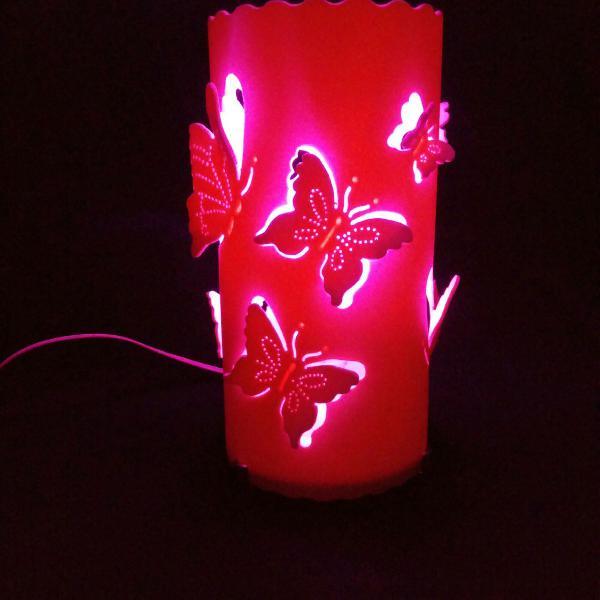 Abajur luminária borboletas
