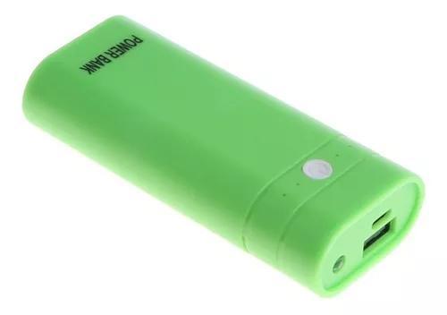 Banco caso poder caso 2x18650 externo carregador bateria cai