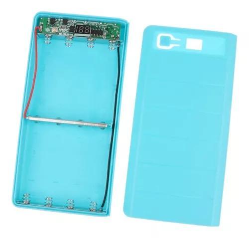 Dual usb carregador bateria móvel banco poder caso diy esto