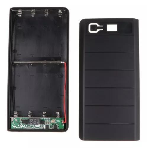 Dual usb carregador bateria móvel caso banco poder diy esto