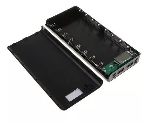 Dual usb móvel poder banco caso estojo diy com exibição d