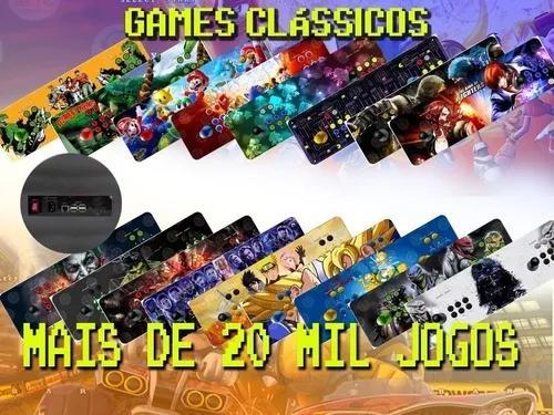 Fliperama portatil arcade óptico 20 mil jogos 64gb - 68x24