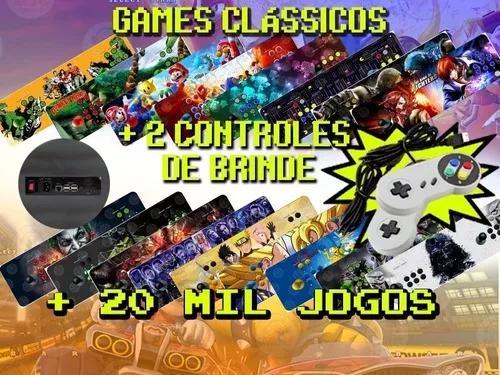 Fliperama portátil arcade 20 mil jogos 64gb + brinde