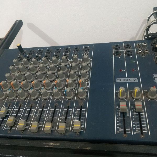 Mesa de som staner s08-2 com 8 canais