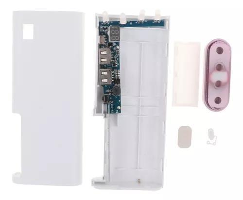 Mini usb banco poder caso 4x18650 diy carregador bateria cai