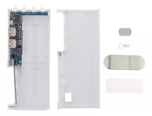 Mini usb poder banco caso 4x18650 diy bateria carregador cai