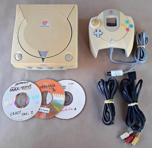 Sega dreamcast 100% ok c/ dreamshell e cartão 4gb com
