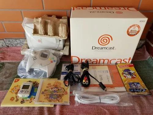 Sega dreamcast console japonês completo