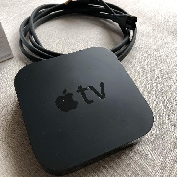Apple tv 2ª geração na caixa