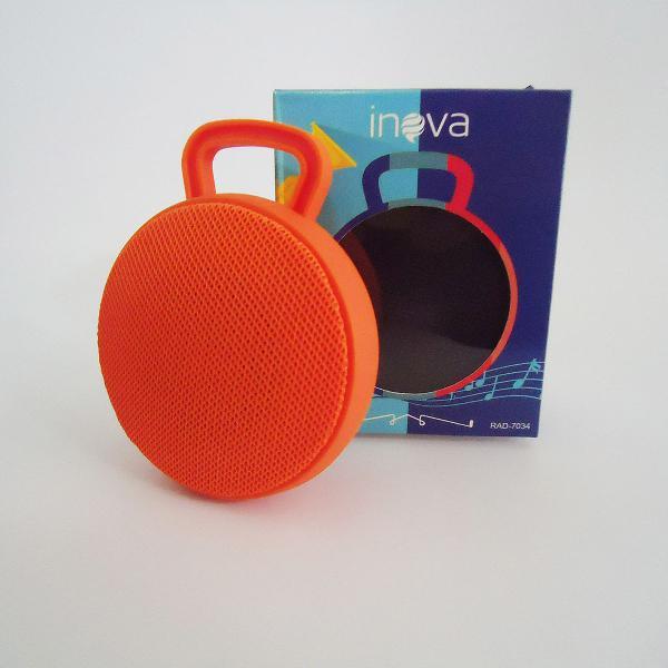 Caixa de som portatil laranja