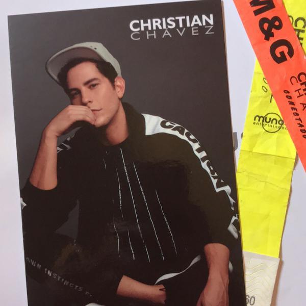 Card autografado - rbd christian chavez