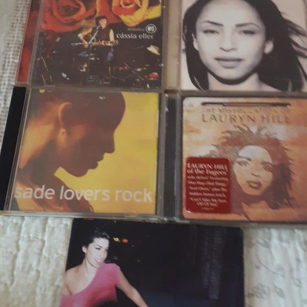 Cds de cantoras internacionais e nacional