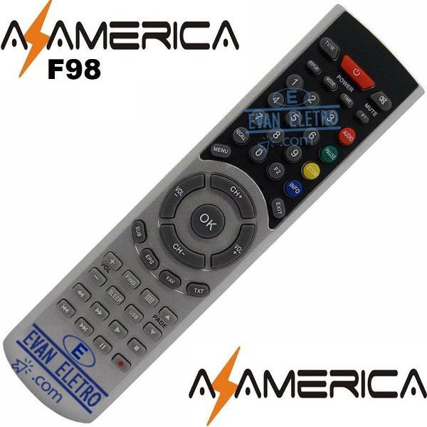 Controle remoto receptor azamérica f98