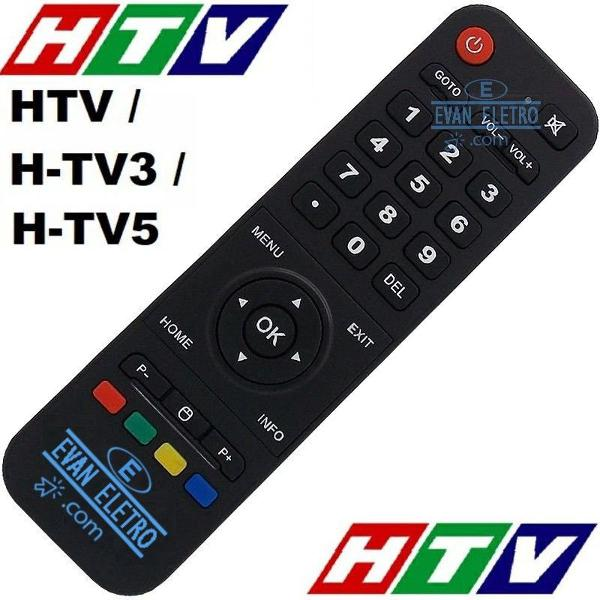 Controle remoto receptor htv 3 box htv3 / htv5 / htv 5
