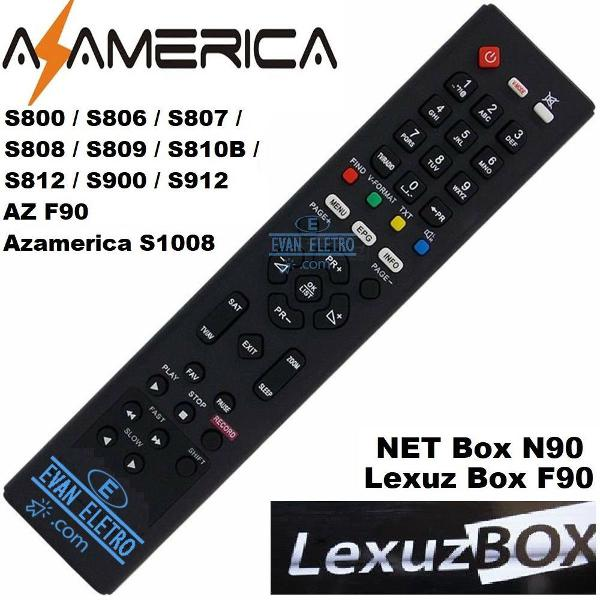 Controle remoto receptor lexuz box f90 /azamérica f90 /