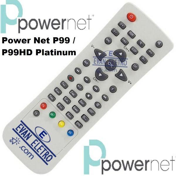 Controle remoto receptor powernet p99 / p99hd platinum