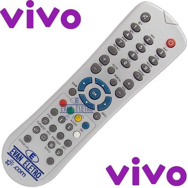 Controle remoto receptor zinwell / tva / telefônica / vivo