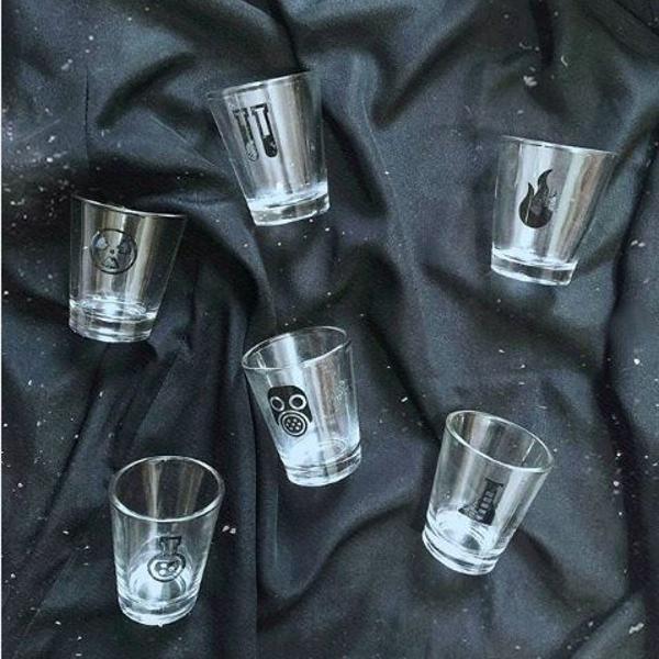 lab shot glasses