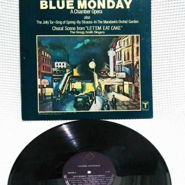 "Lp vinil gershwin ""blue monday - a chamber opera"" - 1981"
