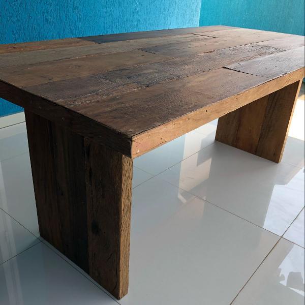 Mesa madeira demolição rústica