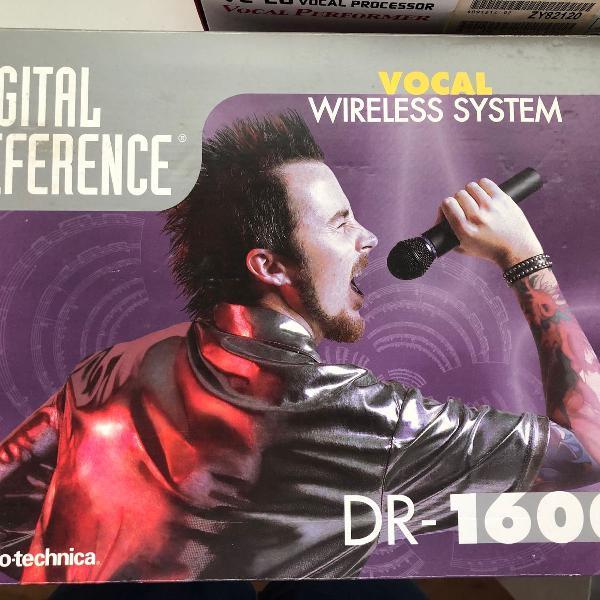 Sistema microfone vhs s/ fio audio-technica dr-1600