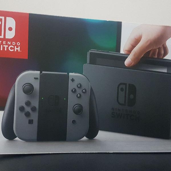 Nintendo switch + 7 jogos originais (soma dos valores dos