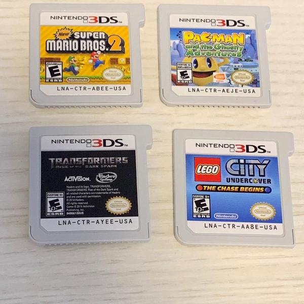 Kit 4 jogos nintendo 3ds