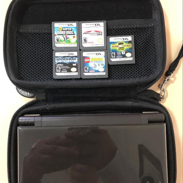 Nintendo ds xl completo com jogos