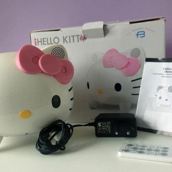 Caixa de som hello kitty