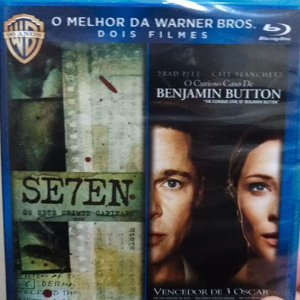 Blu ray lacrado seven ; o curioso caso de benjamin button