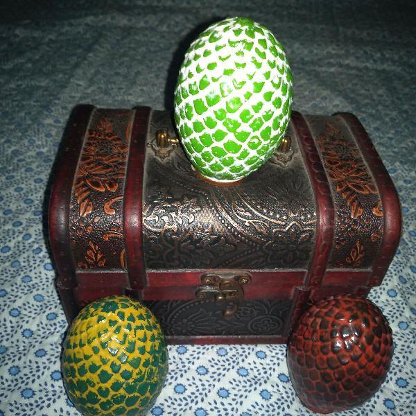 Caixas com ovos de dragão game of thrones