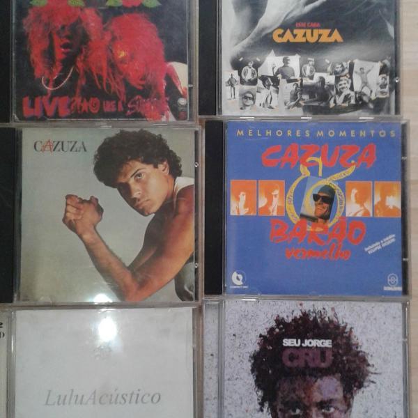 Cds originais: pop rock e mpb.