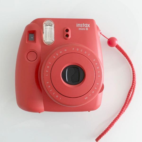 Câmera instantânea fujifilm instax mini framboesa