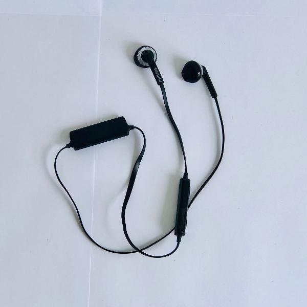 Fone de ouvido bluetooth wireless preto