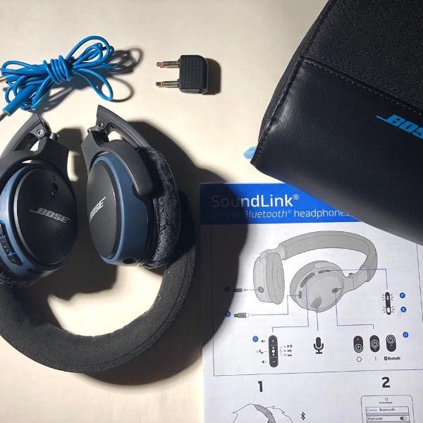 Fone de ouvido bose soundlink on-ear sem fio (bluetooth)