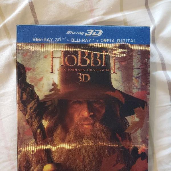 O hobbit uma jornada inesperada blu-ray 2d 3d 4 discos