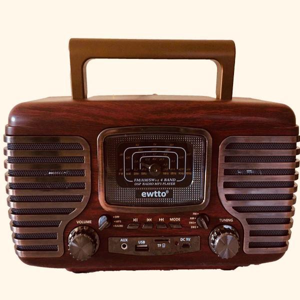 Rádio retro vintage hi-fi