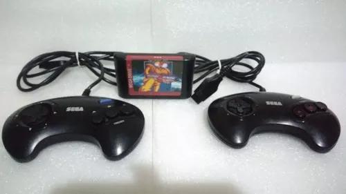 2 controles mega drive originais + jogo b.o.b original