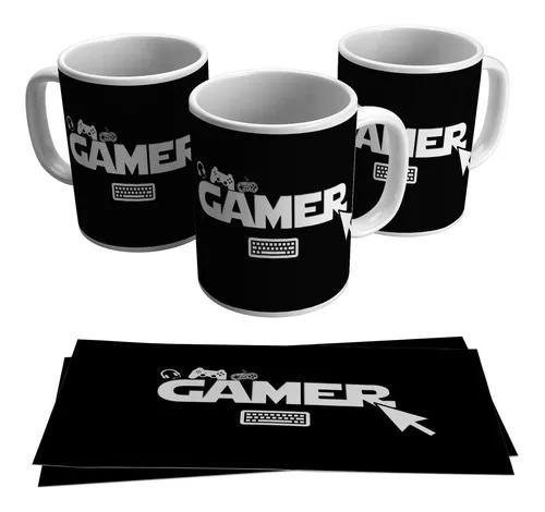 Caneca gamer geek joystick game controle jogo pc