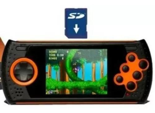 Cartão sd 2gb + 600 jogos mega drive portátil md play