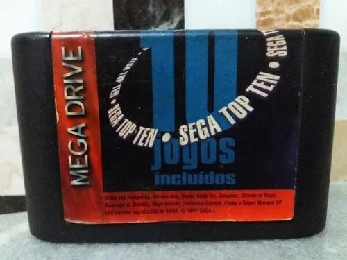 Cartucho 10 jogos original mega drive,fita 10