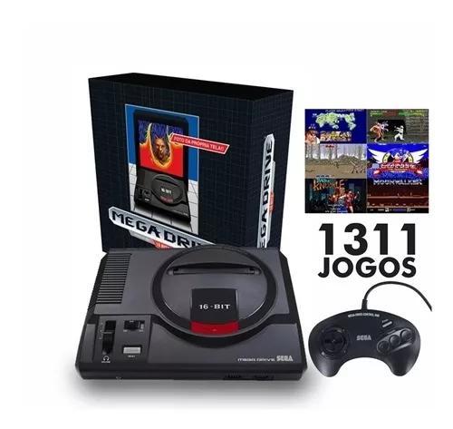 Console mega drive tec toy + 1 controle, personalizado com