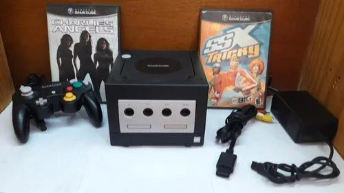 Console nintendo game cube completo 1 controle, jogos, font