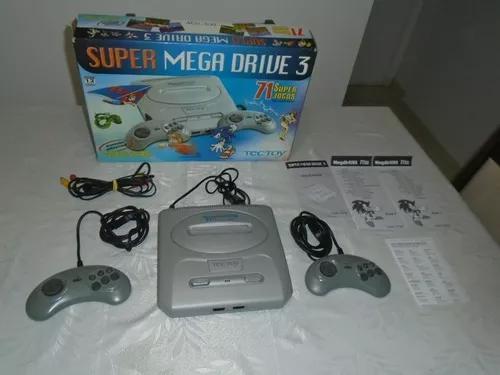 Console super mega drive 3 tectoy com 71 jogos completo
